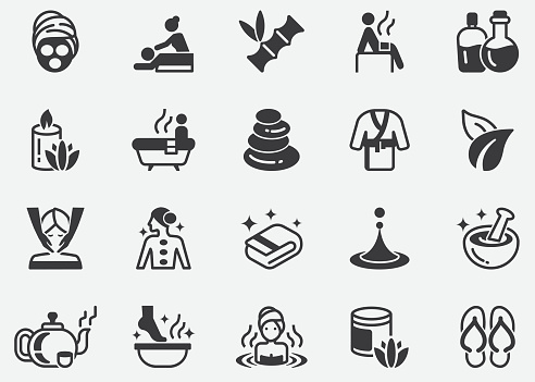 Massage and Spa Pixel Perfect Icons
