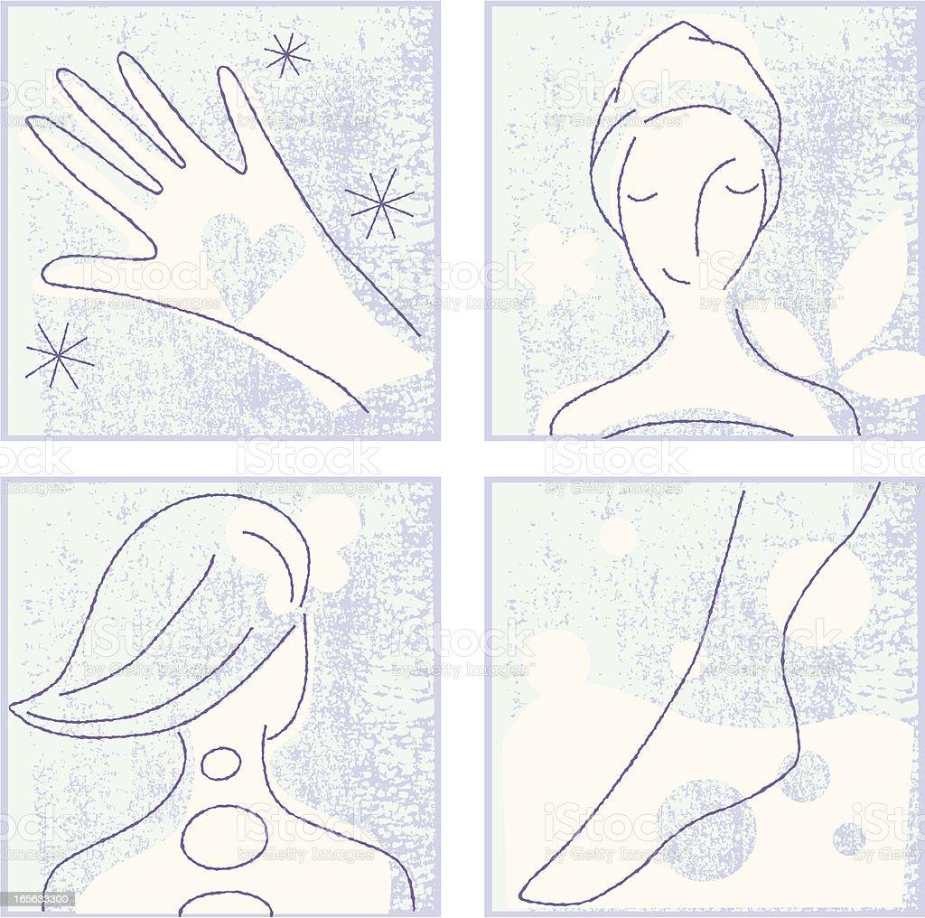 Massage & Facial Treatment royalty-free stock vector art