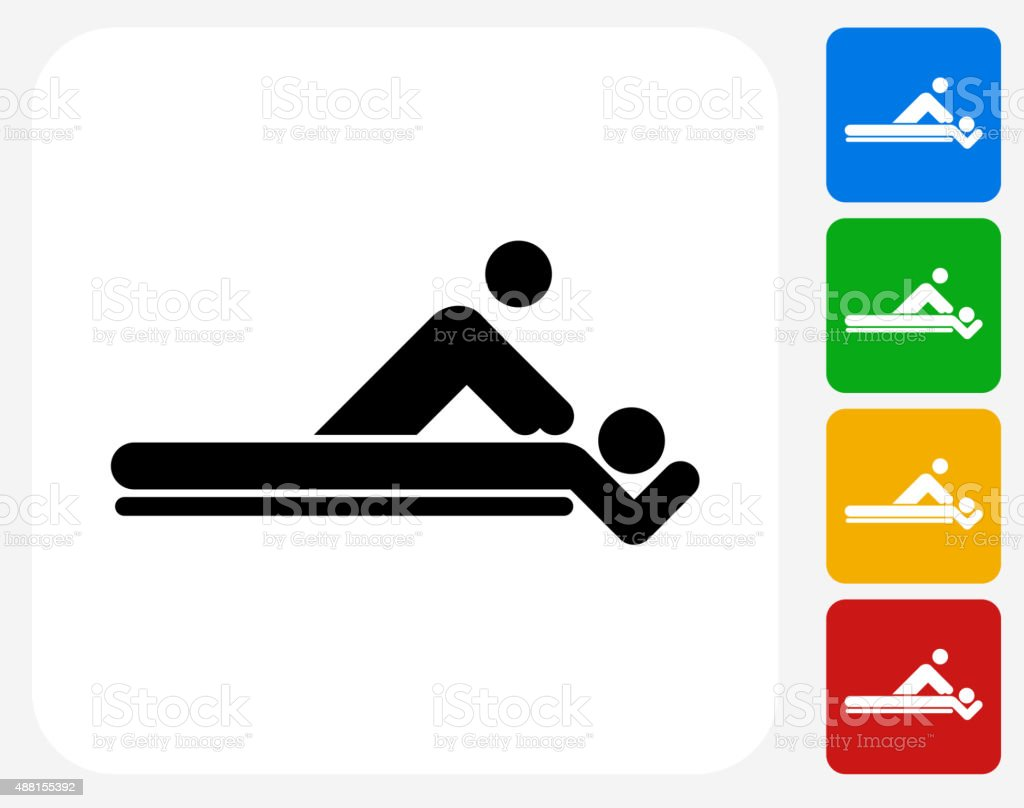 Massage Icon Flat Graphic Design vector art illustration