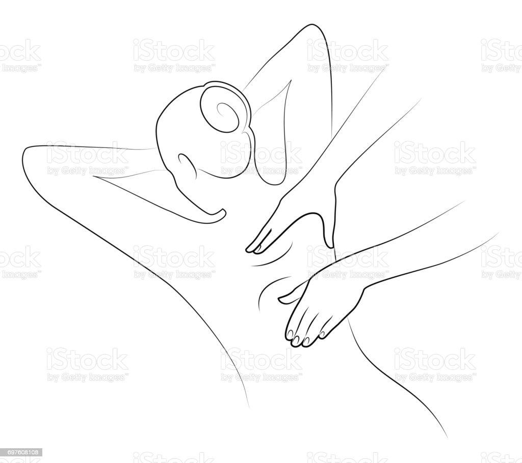 Massage logo concept isolated on white background. vector art illustration