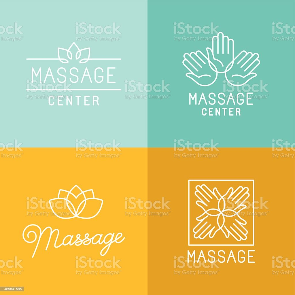 Massage logos vector art illustration