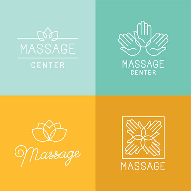 masaż logo - massage stock illustrations