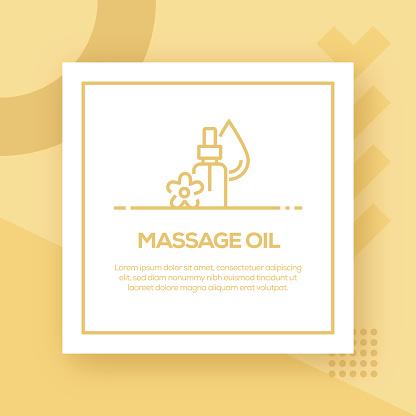 Massage Oil Vector Line Icon - Simple Thin Line Icon, Premium Quality Design Element