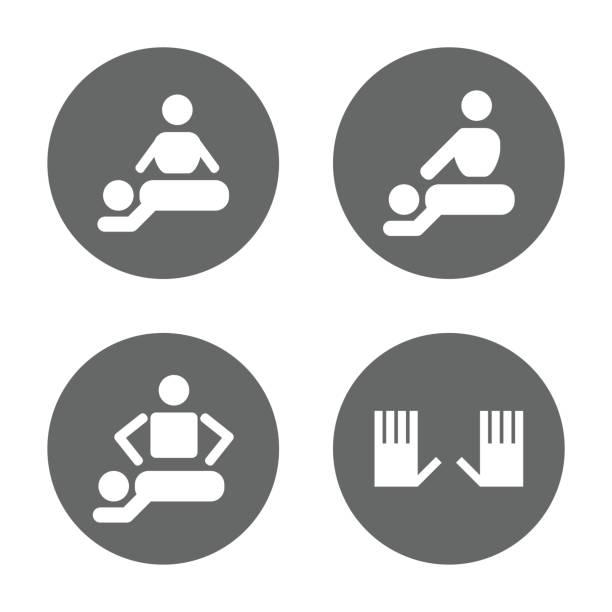 ilustraciones, imágenes clip art, dibujos animados e iconos de stock de conjunto de iconos de spa terapia de masaje - medicina del deporte
