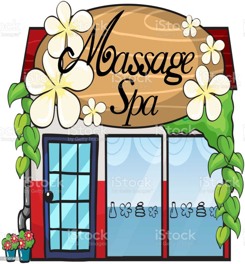 massage spa royalty-free stock vector art
