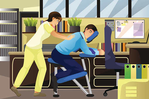 Massage stock illustrations