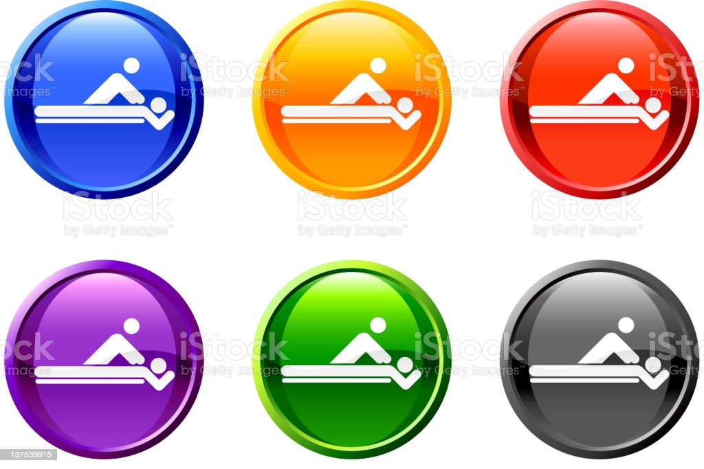 massage therapy button royalty free vector art royalty-free stock vector art