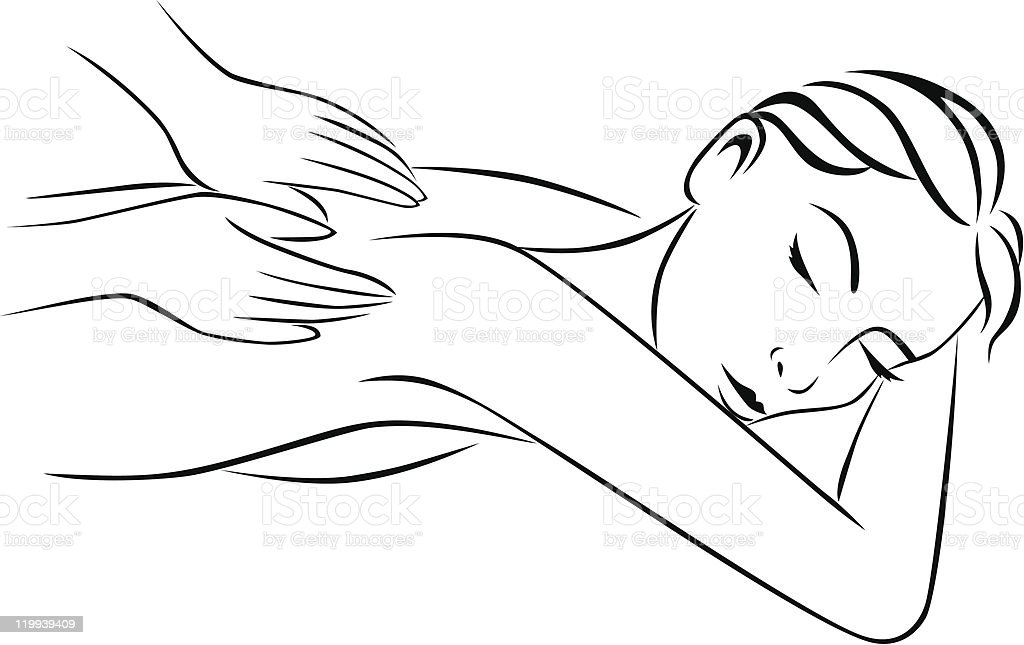 Massage Tratment Stock Vector Art  More Images Of -3215