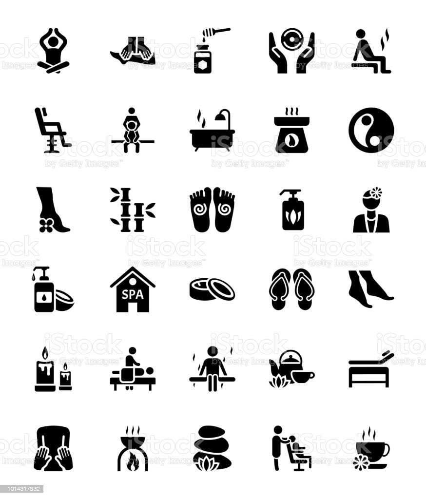 Massage Vector Icons Collection vector art illustration