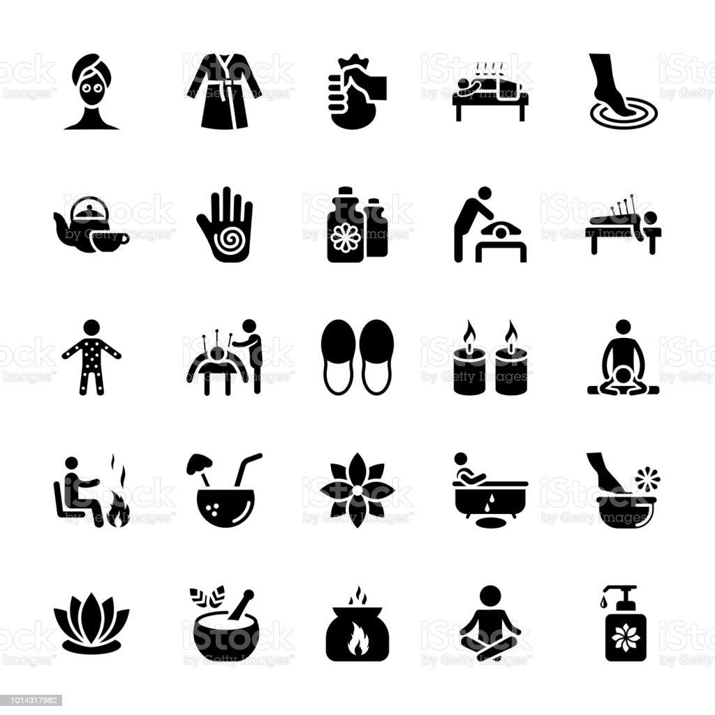 Massage Vector Icons Pack vector art illustration