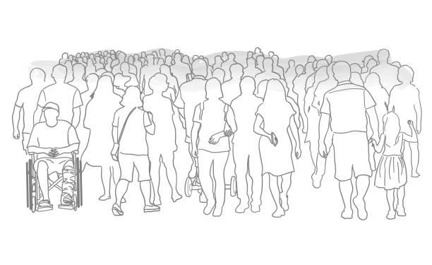 Riesige Menschenmenge – Vektorgrafik