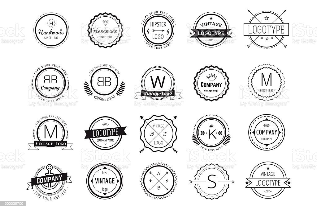 Massive icons badges template bundle vector art illustration