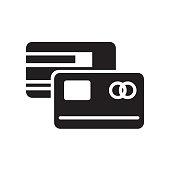 Master card icon isolated on white background