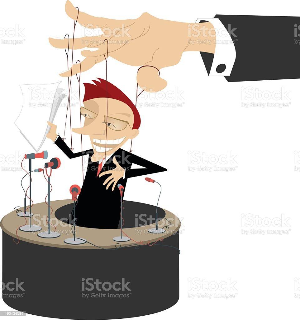 Master of puppet vector art illustration