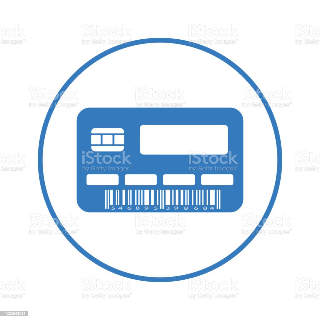 Mastercard Kredit Blaue Debitkarte Symbol Stock Vektor Art und