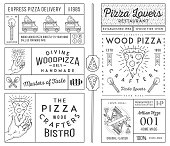 Masters and lovers of pizza vector concept