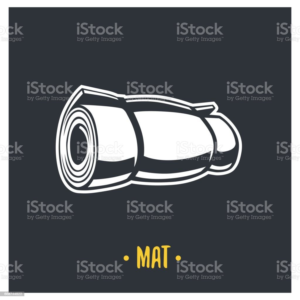Mat illustration. vector art illustration