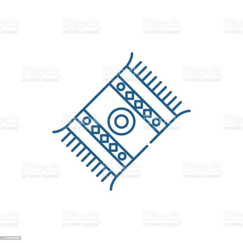 Mat Line Icon Concept Mat Flat Vector Symbol Sign Outline