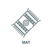 Mat vector line icon, linear concept, outline sign, symbol
