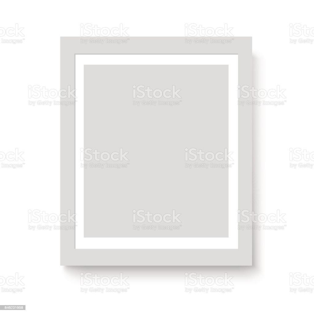 Matte Weiße Bilderrahmen Für Ihre Präsentationen Vektor Stock Vektor ...