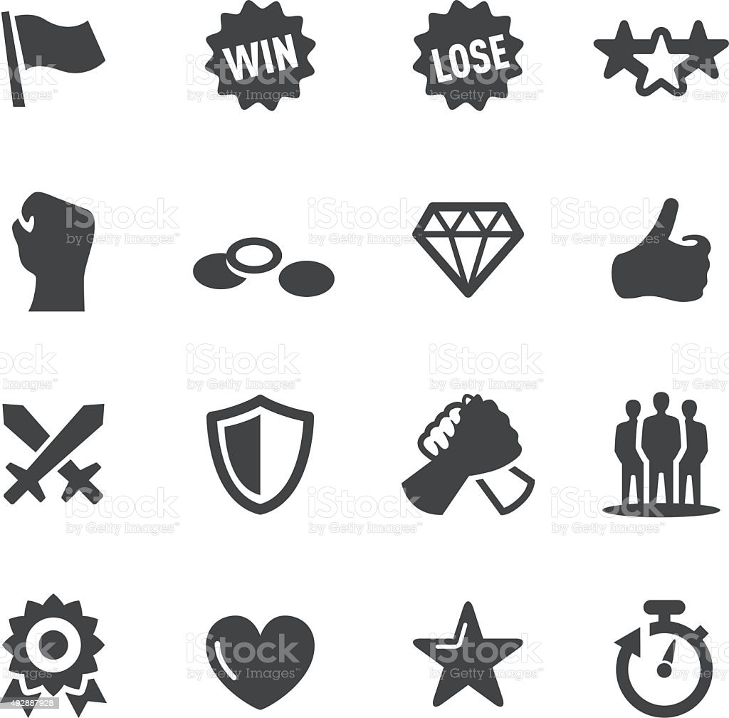 Match Game Icons - Acme Series vector art illustration