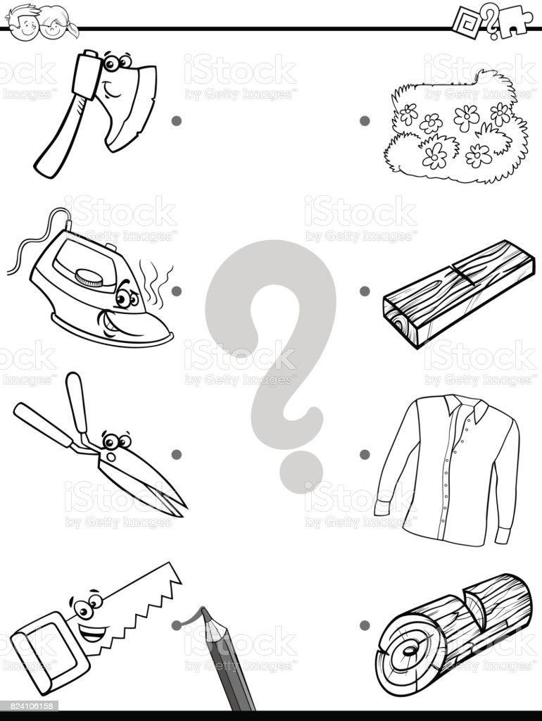 Ilustración De Coincide Con La Página De Objetos Educativos Para