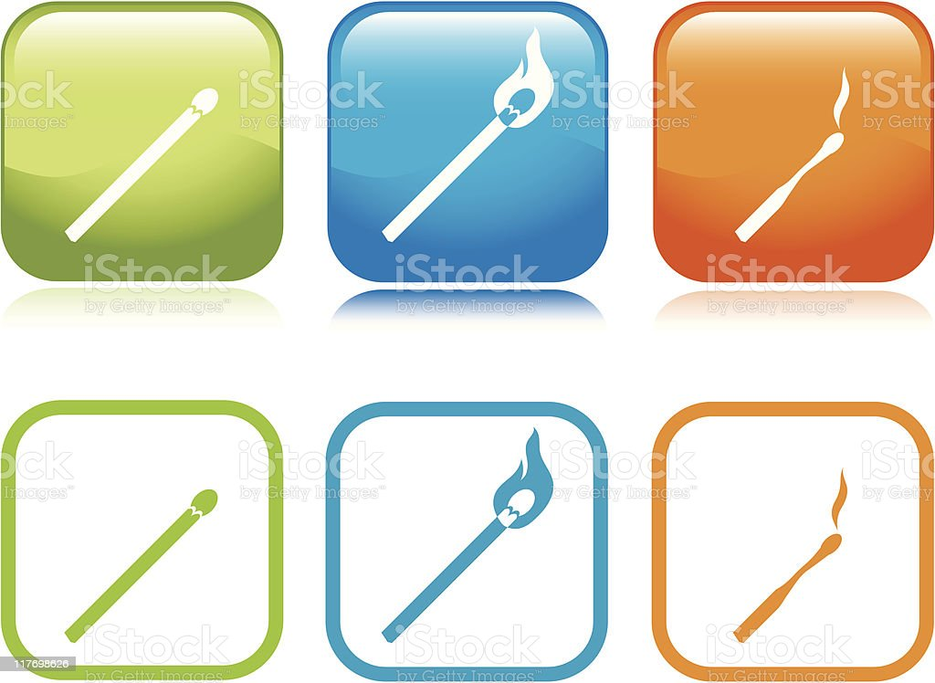 Match Sequence Icons vector art illustration