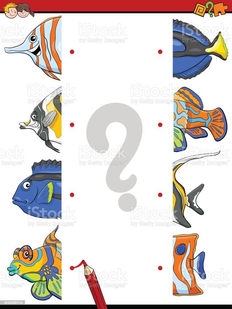 match the fish halves activity