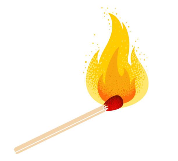 bildbanksillustrationer, clip art samt tecknat material och ikoner med matcha med eld - hand tänder ett ljus