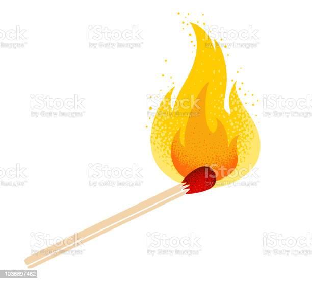 Matcha Med Eld-vektorgrafik och fler bilder på Abstrakt