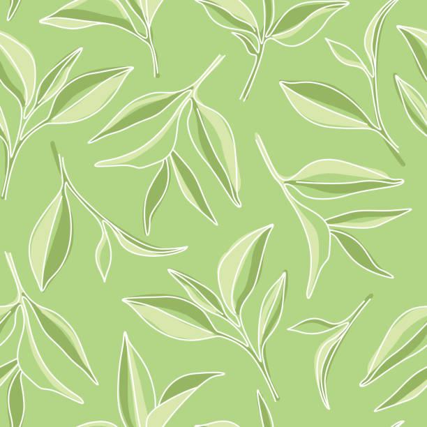 抹茶は緑の背景にグラフィックパターンを残します - 抹茶点のイラスト素材/クリップアート素材/マンガ素材/アイコン素材