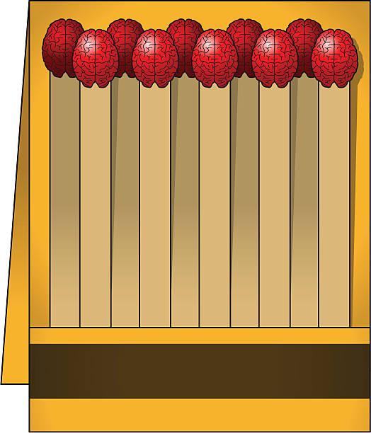 streichholzschachtel mit gehirn spiele - sensorischer impuls stock-grafiken, -clipart, -cartoons und -symbole