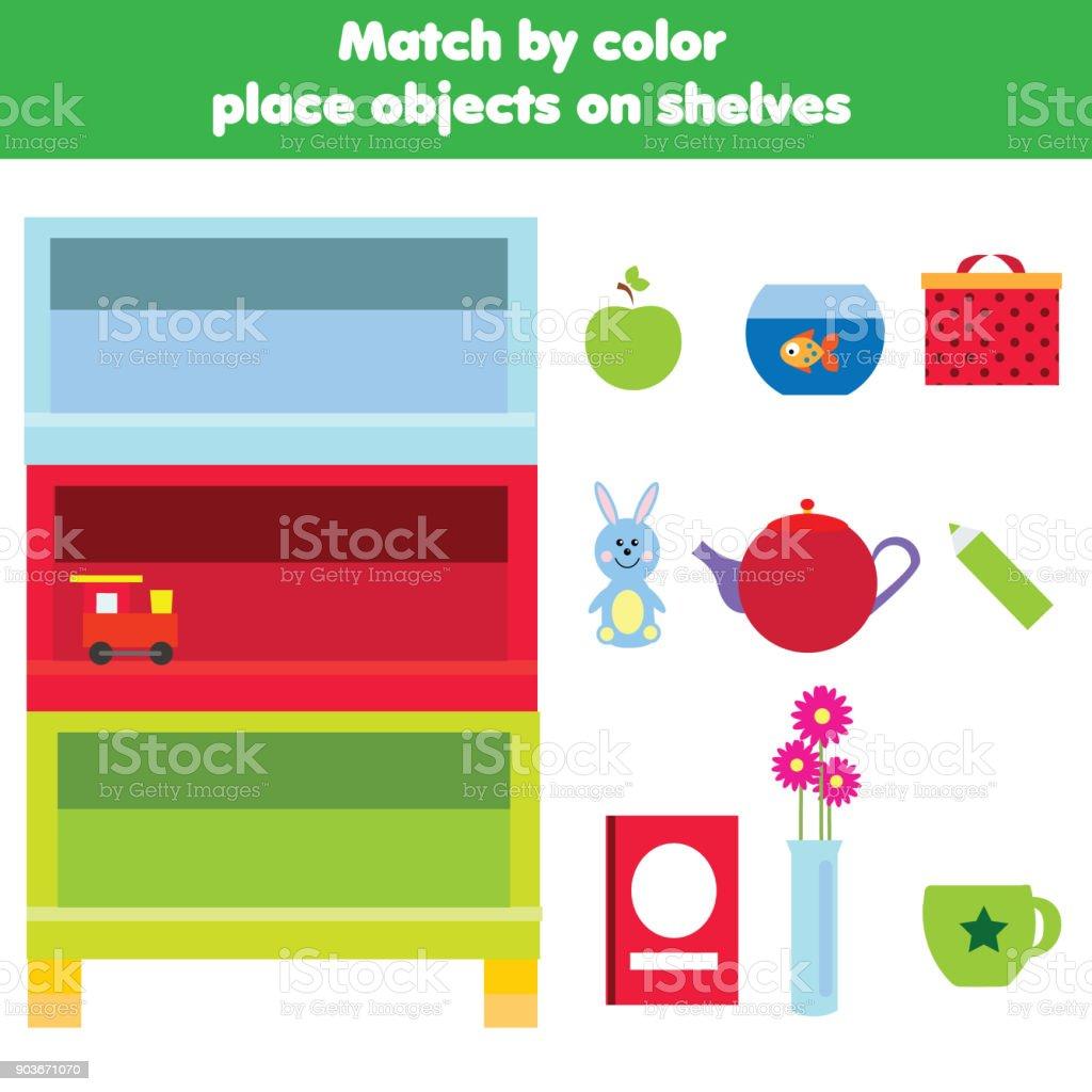 Passende Kinder Lernspiel Aktivitäten Für Kinder Matchobjekte Durch ...
