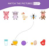 Matching children educational game.
