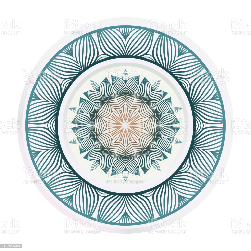 Matching Decorative Plates Decorative Mandala Ornament Vector ...
