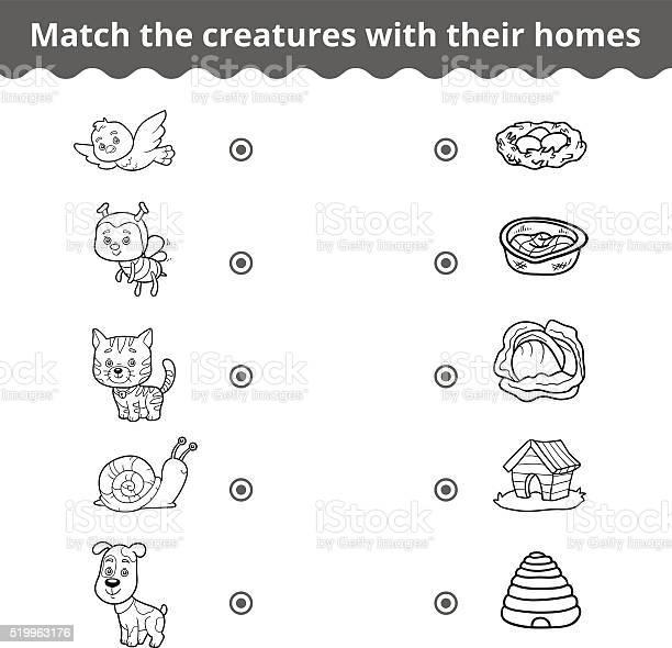 Matching game for children animals and their homes vector id519963176?b=1&k=6&m=519963176&s=612x612&h=puxdpdbya8ninhj r2qpe e63exsasaziltw5zf qsy=