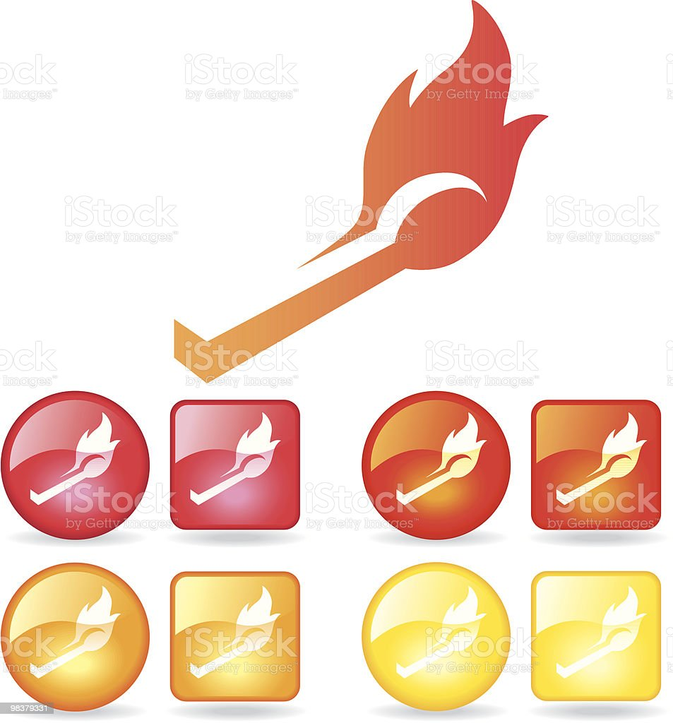 Matchstick flame royalty-free matchstick flame stock vector art & more images of arson