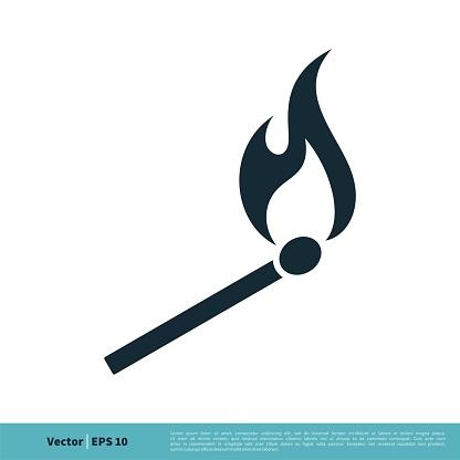 Matchstick, Wooden Lighter Icon Vector Logo Template Illustration Design. Vector EPS 10.