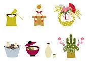 日本の運の資料集。和柄。日本のスタイルです。伝統的な商品です。装飾用。