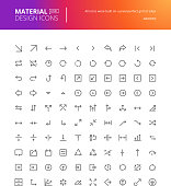 Material design arrow icons set
