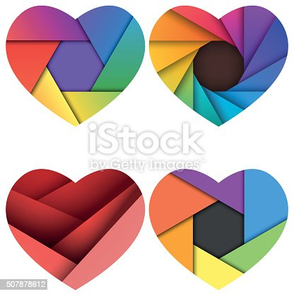 Material design heart shapes