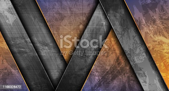 Contrast material geometric stripes. Abstract grunge tech graphic digital design. Old wall concrete texture. Vector corporate background