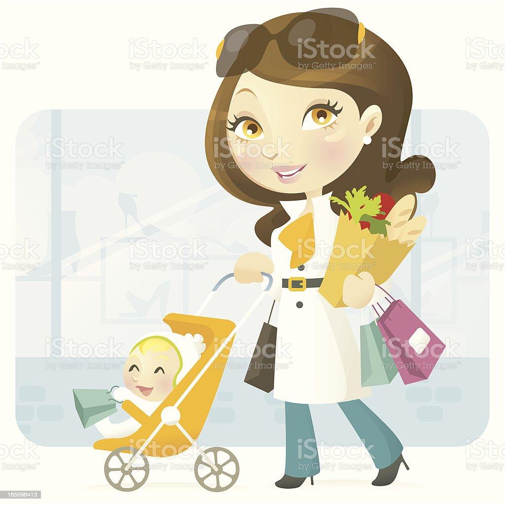 Material Mom vector art illustration