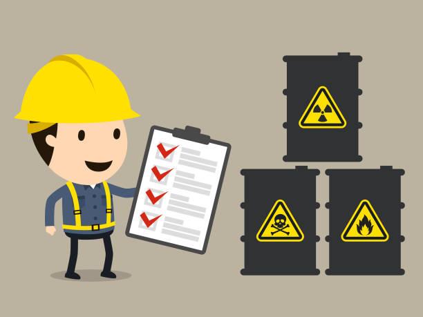 ilustraciones, imágenes clip art, dibujos animados e iconos de stock de hoja de datos material de seguridad (msds) - química