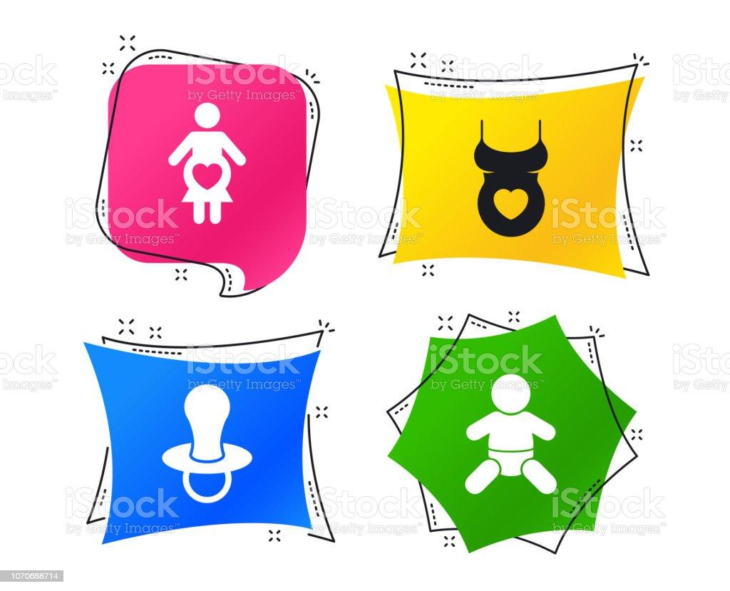974048b65 Ilustración de Iconos De Maternidad Embarazo Infantil De Bebé ...