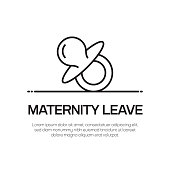 Maternity Leave Vector Line Icon - Simple Thin Line Icon, Premium Quality Design Element