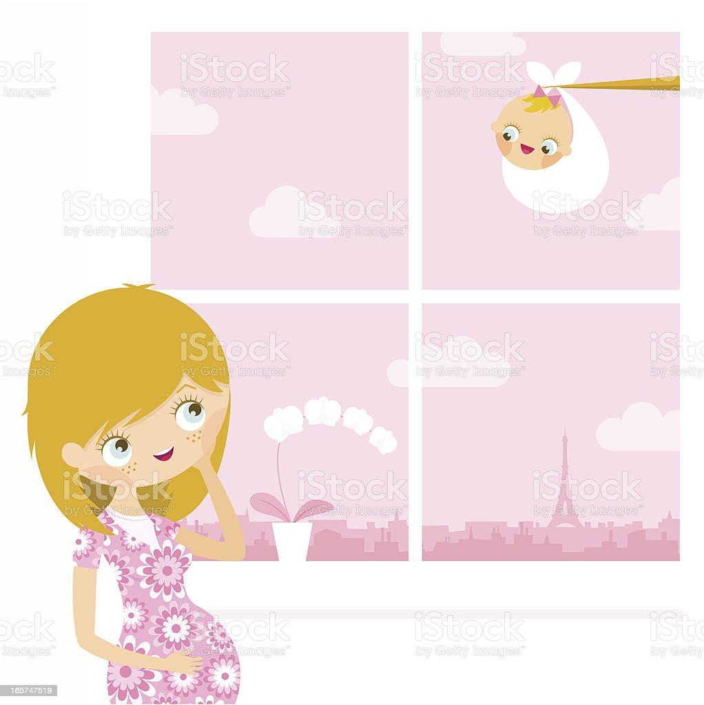 Maternity royalty-free stock vector art