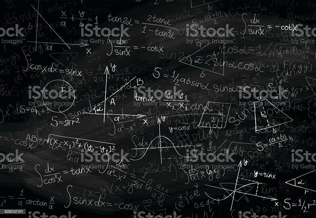 Math background vector art illustration