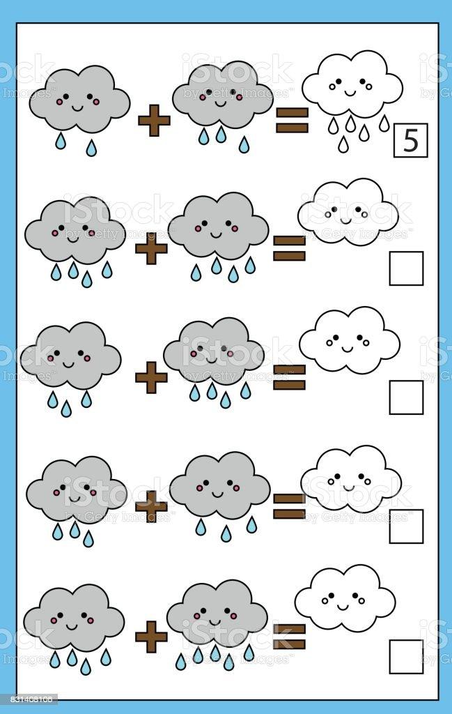 Ilustración de Matemáticas Educativas Contando Juego Para Niños Hoja ...