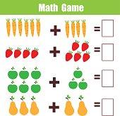 Zahlen Mathematik Spiel Für Kinder Zählen Lernen Wie Viele Gemüse ...